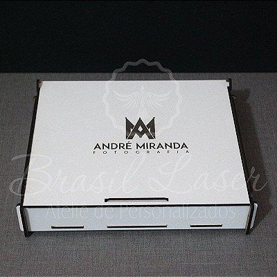 10 Caixinhas Em Mdf Branco Com Gravação Na Tampa Personalizada 19x12x4cm