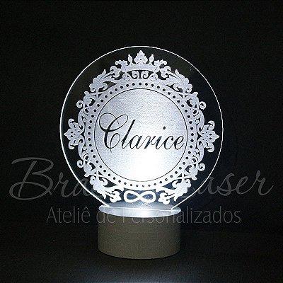 Topo de Led Premium com Acrílico Grosso Iluminado com Brasão à escolher Personalizado - Veja opções de Tamanho no Anúncio