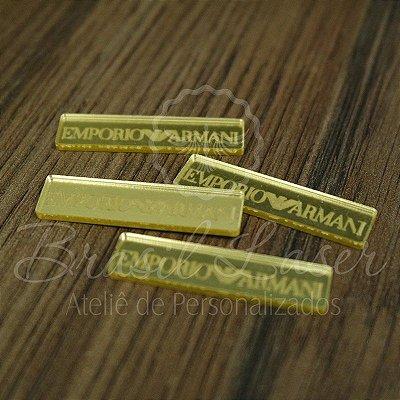 1 Aplique Para Laços ( EMPORIO ARMANI - Marcas Famosas) - Ver opções dentro do anúncio - Quantidade Mínima : 10 Unidades iguais