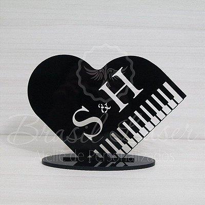 Topo De Bolo Musical / Piano com 14cm (maior lado da peça) - Cor à Escolher
