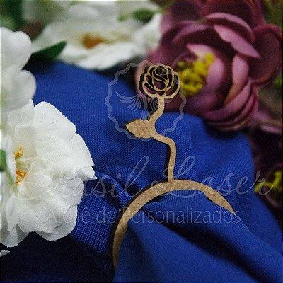 1 Porta Guardanapo Flor em Mdf  (Pintado e Sem Pintura) - #Quantidade Mínima: 10 unidades iguais#