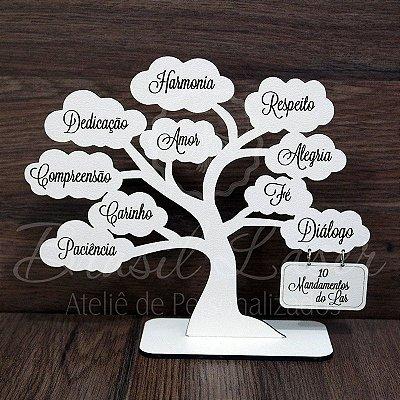 Árvore com Os 10 Mandamentos do Lar com 20 cm - Cor e Quantidade selecionar dentro do anuncio.