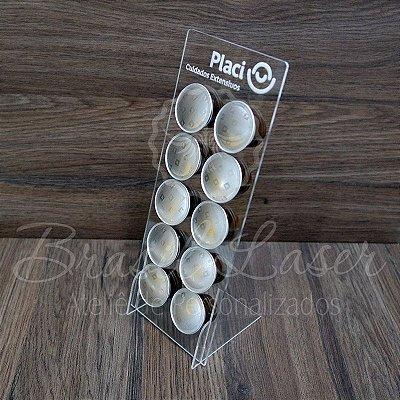 100 Porta Cápsulas Compatível com Cápsulas Nespresso para 10 Cápsulas  - Cor e Tipo Material a Escolher