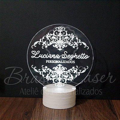 Topo de Led Premium com Acrílico Grosso Iluminado com Nome Personalizado - Veja opções de Tamanho no Anúncio