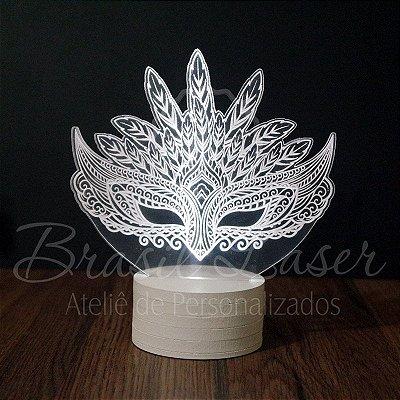 Topo de Led Premium de Máscara com Acrílico Grosso Iluminado - Veja opções de Tamanho no Anúncio