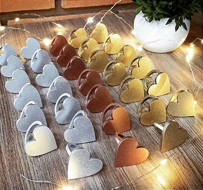 1 Porta Guardanapo Coração em Mdf (Pintado e Sem Pintura) - #Quantidade Mínima: 10 unidades iguais#