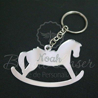 1 Chaveiro Cavalo / Cavalinho Personalizado para Lembrança com Gravação a laser (Minimo 10 unidades por pedido) - Selecionar Material/cor dentro do anuncio