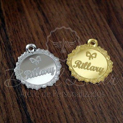 1 Medalhinha com Brasão - para lembrancinha / Bem Casado / Bem Vivido em Acrílico - Várias Cores - Personalizado - Ver opções dentro do anúncio - Quantidade Mínima : 10 Unidades iguais
