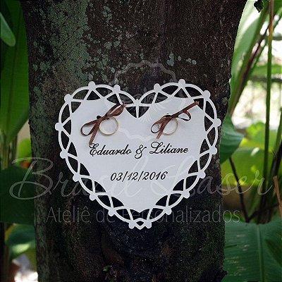 Porta Alianças Personalizado para Casamentos ou Noivados - Opções de cor dentro do Anúncio