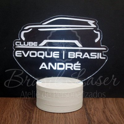 Topo de Led Premium Clube com Acrílico Grosso Iluminado com Nome Personalizado - Veja opções de Tamanho no Anúncio
