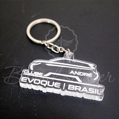 Chaveiro Evoque Club Brasil com nome Personalizado - Opção de Quantidade dentro do anuncio.