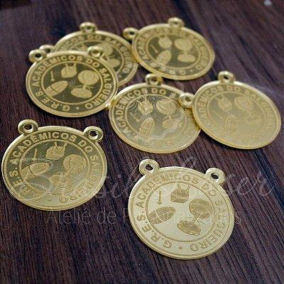1 Medalhinha Salgueiro para lembrancinha / Bem Casado / Bem Vivido em Acrílico - Várias Cores - Personalizado - Ver opções dentro do anúncio - Quantidade Mínima : 10 Unidades iguais