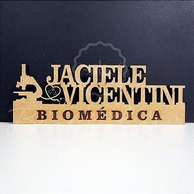 Decoração para Biomédica / Formatura de Biomedicina com Nome Personalizado - **Cor e tamanho são selecionados dentro do anuncio para ver cada preço**