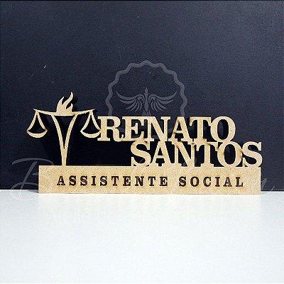 Decoração para Serviço Social / Formatura de Assistente Social com Nome Personalizado - **Cor e tamanho são selecionados dentro do anuncio para ver cada preço**