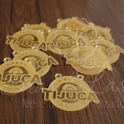 1 Medalhinha Tijuca para lembrancinha / Bem Casado / Bem Vivido em Acrílico - Várias Cores - Personalizado - Ver opções dentro do anúncio - Quantidade Mínima : 10 Unidades iguais