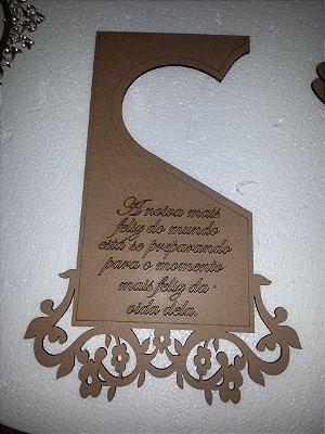 Placa de Porta Maçaneta Para Noiva Casamento