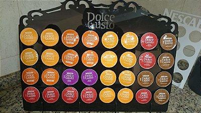Porta Cápsulas Dolce Gusto p/ 32 Cápsulas (Nescafé) - Cor e Tipo Material a Escolher