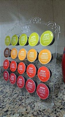 Porta Cápsulas Dolce Gusto p/ 20 Cápsulas (Nescafé) - Cor e Tipo Material a Escolher