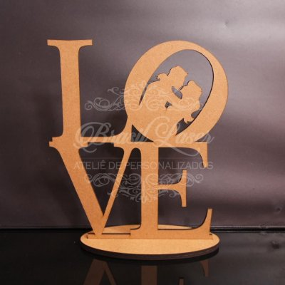 Enfeite de Mesa LOVE Mdf 6mm