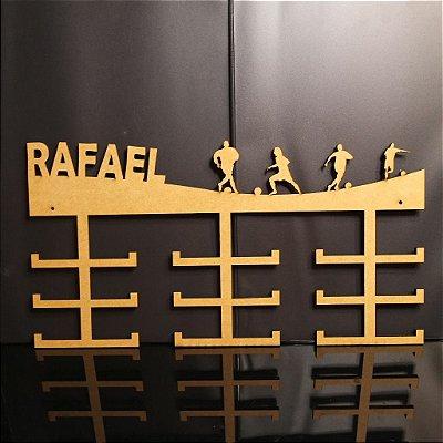 Porta Medalhas FUTEBOL Personalizado Tamanho 45cmx23,7cm Aprox. 36 Medalhas
