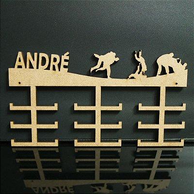 Porta Medalhas Judô Personalizado Tamanho 45cmx23,7cm Aprox. 36 Medalhas