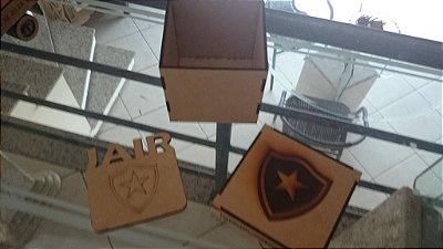 Caixa com 15 Porta Copos Time BOTAFOGO Personalizado Com Nome