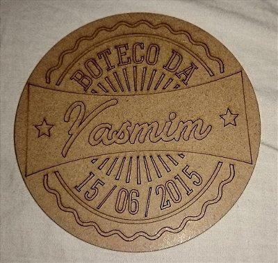50 Porta Copos BOTECO Cerveja Personalizado (Nome e Data)