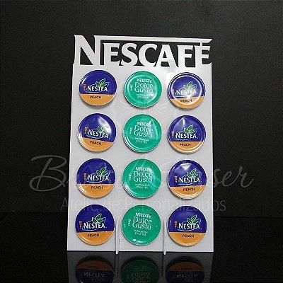 Porta Cápsulas Dolce Gusto p/ 12 Cápsulas (Nescafé) - Cor e Tipo Material a Escolher