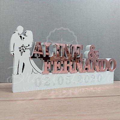 Decoração para Casamento com as Letras Personalizadas -  **Cor e tamanho são selecionados dentro do anuncio para ver cada preço**