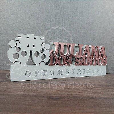 Decoração para Optometria / Optometrista com Nome Personalizado - **Cor e tamanho são selecionados dentro do anuncio para ver cada preço**