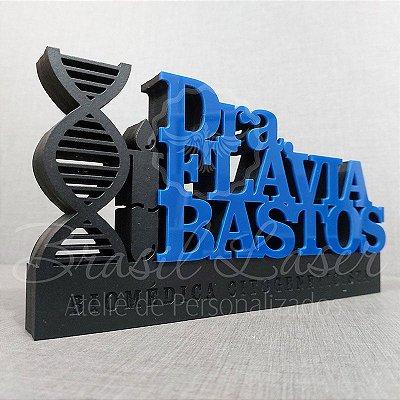 Decoração para Biomédico / Biomédica Cito geneticista com Nome Personalizado - **Cor e tamanho são selecionados dentro do anuncio para ver cada preço**
