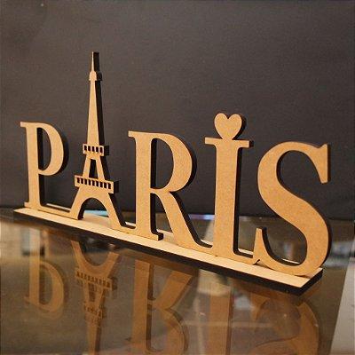 Nomes PARIS com base em MDF 6mm Cortado a Laser - Tamanhos disponibilizados na opção do anúncio