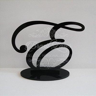 Topo De Bolo Só Letras com 14cm (maior lado da peça) - Cor à Escolher