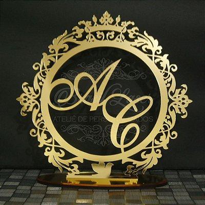 Topo De Bolo  - Tamanho 20cm (maior lado da peça) - Cor à Escolher
