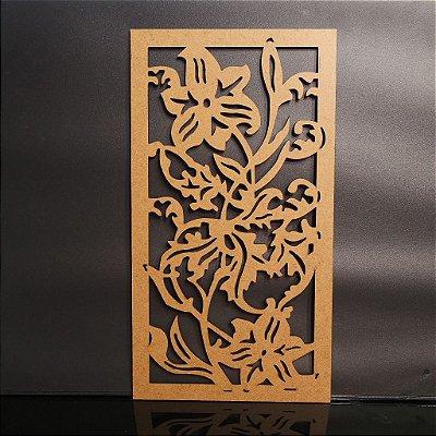 Quadro Floral Decorativo em Mdf - Vários Tamanhos