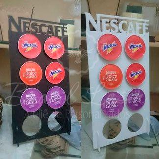 Porta Cápsulas Dolce Gusto p/ 8 Cápsulas (Nescafé) - Cor e Tipo Material a Escolher
