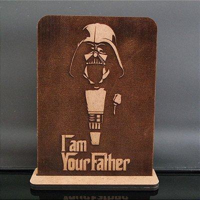 Darth Vader em mdf 3 mm com base