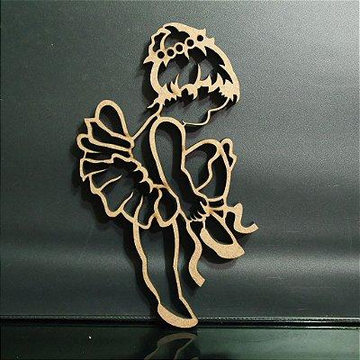 Silhueta de Bailarina Decorativo em Mdf - Vários Tamanhos