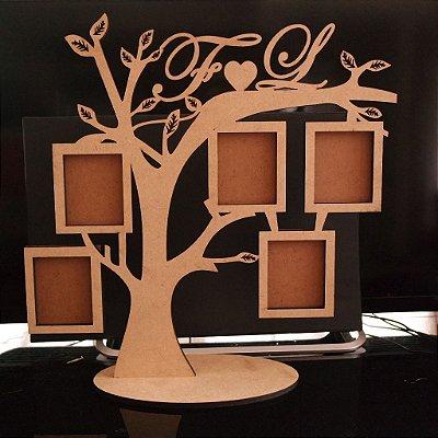 Porta Retrato Árvore para 5 Fotos Personalizado