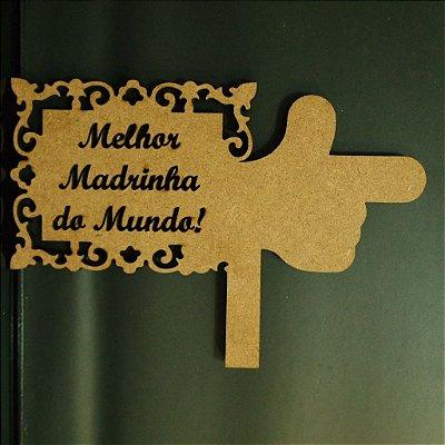 Placa Personalizada em mdf de 3 mm - Você escolhe a frase - (Opção de pintadas ou cruas)