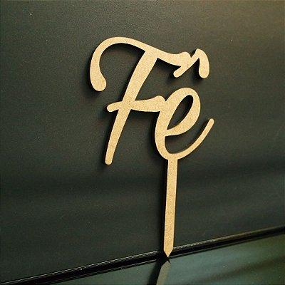 Topo De Bolo de Fincar Personalizado - Cor à Escolher