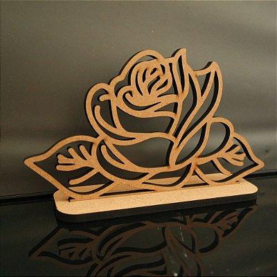 Topo De Bolo Flor - Tamanho com 20cm (maior lado da peça) - Cor à Escolher