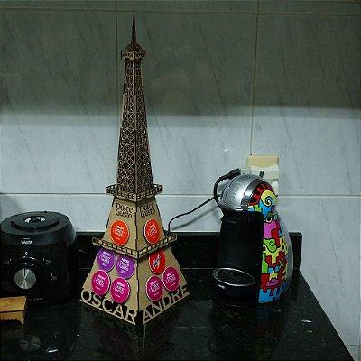 Porta Cápsulas Torre Eiffel Paris 3D Personalizado Compatível com Cápsulas Dolce Gusto DG - 18 cápsulas