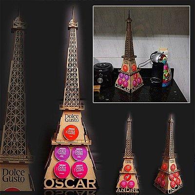 Porta Cápsulas Torre Eiffel Paris 3D Personalizado Dolce Gusto DG - 18 cápsulas