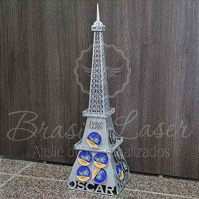 Porta Cápsulas Torre Eiffel Paris 3D Personalizado e Pintado - 18 cápsulas