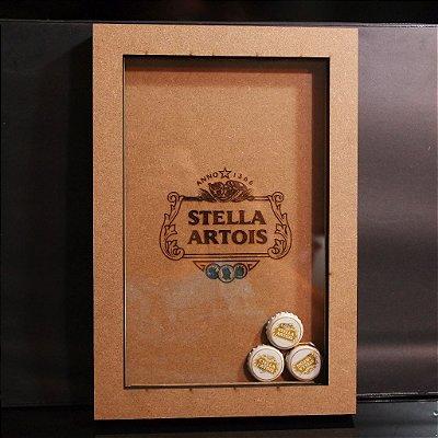Mini Quadro para Chapinhas de Cerveja Stella Artois