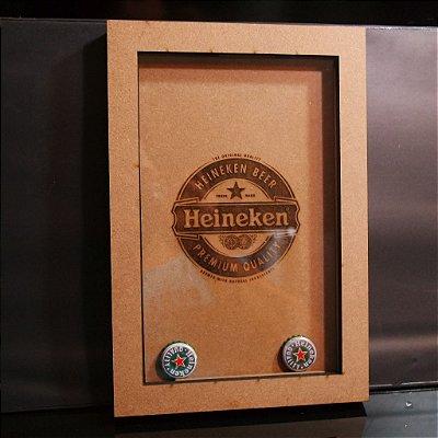 Mini Quadro para Chapinhas de Cerveja Heineken
