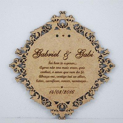 Porta Aliança Personalizado no Nome do Casal com Monograma para Casamento
