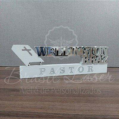 Decoração para Pastor / Padre com Nome Personalizado - **Cor e tamanho são selecionados dentro do anuncio para ver cada preço**