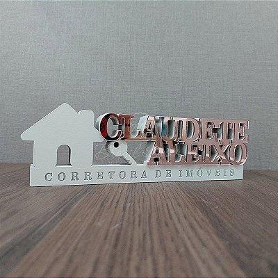 Decoração para  Corretor / Corretora de imóveis / Imobiliária com Nome Personalizado - **Cor e tamanho são selecionados dentro do anuncio para ver cada preço**